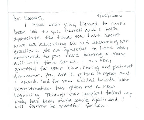 Testimonials greensboro nc dr david bowers dear dr bowersit was a pleasure meeting donna and thank you so much for all your special attention i especially appreciate your reassuring letter before spiritdancerdesigns Images